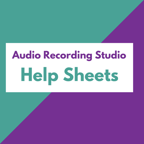 Audio Recording Studio Help Sheets